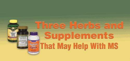 Multiple Sclerosis Foundation - Three Herbs and Supplements That May